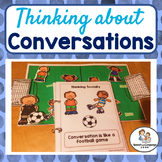 Speech Therapy - Conversation Skills- is like a Football game - Social Skills