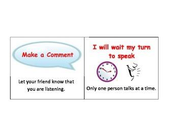 Conversation Skills: Make a Comment-Wait turn to speak reminder