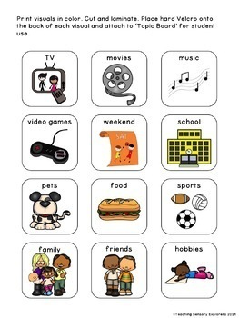 Conversation Skills: Visual Supports for Students with Autism