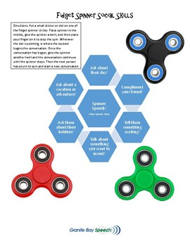 Conversation Skills with Fidget Spinners