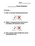 Social Challenges Packet!