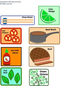 Social Language Conversation Soup Game:  Vietnamese Phở (Pho) Soup