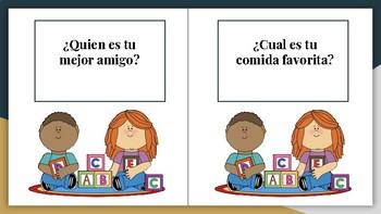 Conversation Starter Cards in Spanish