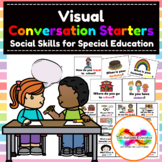 Conversation Starter Prompt Cards for Autism Special Education