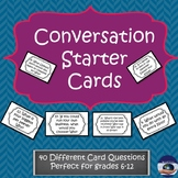 Conversation Starter Task Cards - General Questions