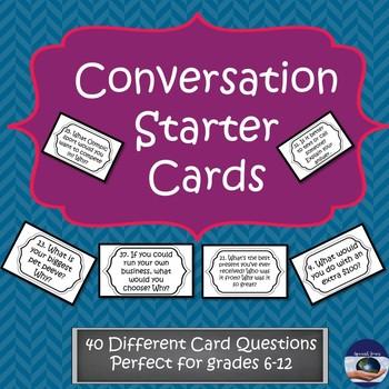 Conversation Starter Task Cards - General Questions