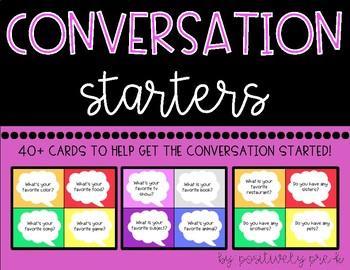 Conversation Starters! Social Skills Activity