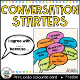 Conversation Starters {Accountable Talk Stems}