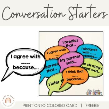 Conversation Starters {Accountable Talk Stems}