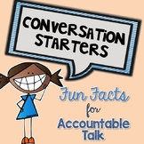 FREE! Conversation Starters {Morning Meeting, Accountable Talk, etc.}