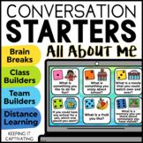 Conversation Starters Brain Break {All About Me}   Distanc