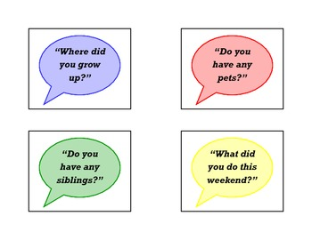 Conversation Starters Cards