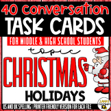 Conversation Starter Cards   Christmas holidays   Social Skills for Middle&High