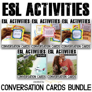 ESL Conversation Activities Speaking Practice (bundle)