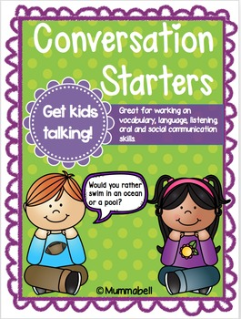 Conversation Starters - Get kids talking! by Mummabell