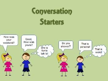 Conversation Starters-Good Social Skills