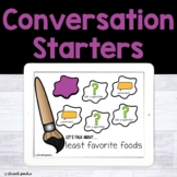 Conversation Starters | Let's Talk About | Teletherapy | D