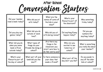 Conversation Starters (Lower Primary Friendly)