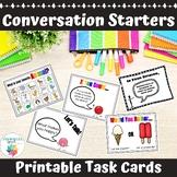 Conversation Starters Printable Task Cards Ice Breakers So