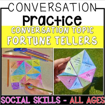 Conversation Starters -  Social Skills Fortune Teller Craft Activity!