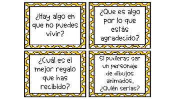 Conversation Starters - Spanish Version