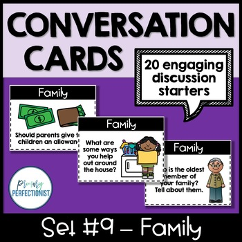 Conversation Starters - Task Cards for Discussion & Writing - SET #9: FAMILY