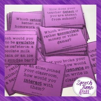 Conversation Starters Using Tier 2 Vocabulary Words