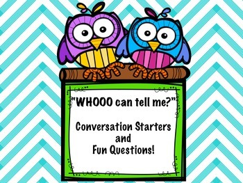 """Conversation Starters: """"Whoooo Can Tell Me?"""""""