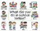 Conversation Starters and Idea Sheets for English Language Learners