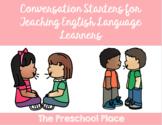 Conversation Starters and Idea Sheets: VIPKID/ESL/ELL Online Teaching