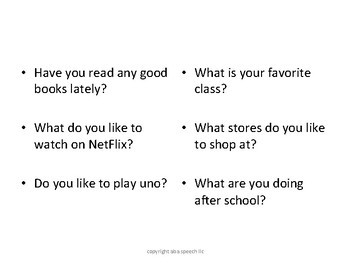Conversation Starters for Middle School and High School Students