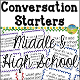 Conversation Starters for Middle and High School