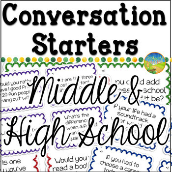 Conversation Starters Worksheets Teaching Resources Tpt