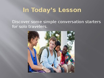 Conversation Starters for Solo Travelers
