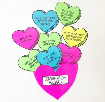 Conversation Starters for Speech Therapy - Valentine's Day for Speech Therapy