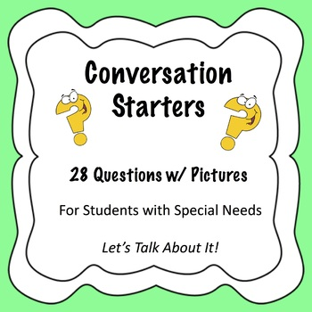 Conversation Starters for Students With Special Needs
