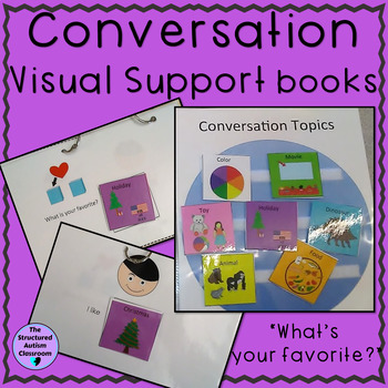 Autism Conversation Starter Visual Support Books