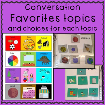 Conversation Starter Visual Support Books for Autism