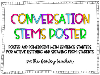 Conversation Stems PowerPoint & Poster