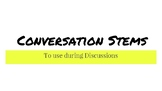 Conversation Stems to use during Discussions