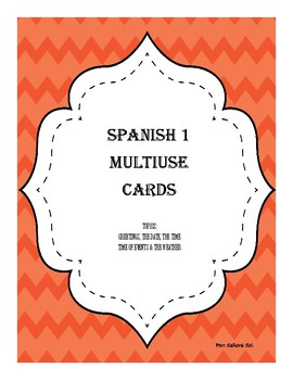 Interactive Task Cards in Spanish - Greetings, date, time, and weather