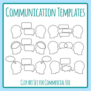 Conversation Templates Clip Art Set for Commercial Use