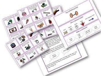 Conversation Starter Topic Cards, Social Skills