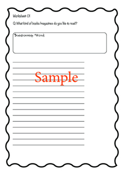 Conversation Topics & Game + Worksheets (Sample)