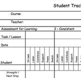 Conversation Tracking Sheet