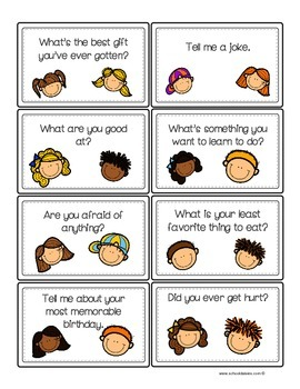 Conversation and Writing Task Cards