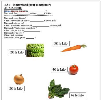 Conversation au Marché - les légumes (French vegetables at the market)