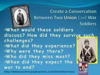 Civil War Soldiers  ~ Conversation handout
