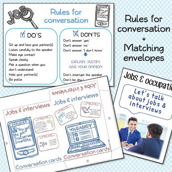 NEW VERSION - Jobs & job interviews - Conversation cards