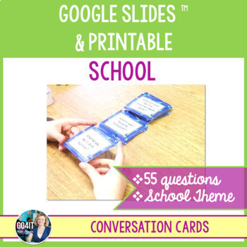 Conversation cards: School (55 cards)